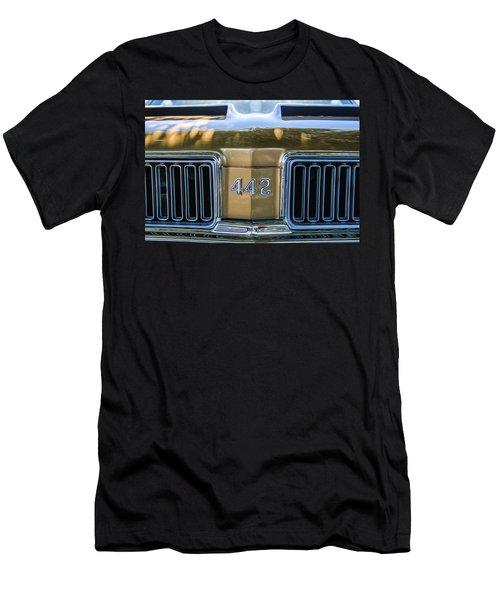 1970 Oldsmobile 442 Convertible Emblem -0989c Men's T-Shirt (Athletic Fit)