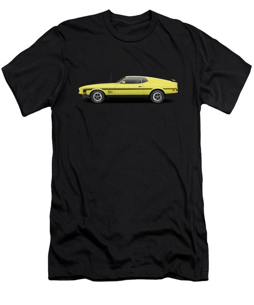 1971 Ford Mustang 351 Mach 1 - Grabber Yellow Men's T-Shirt (Athletic Fit)