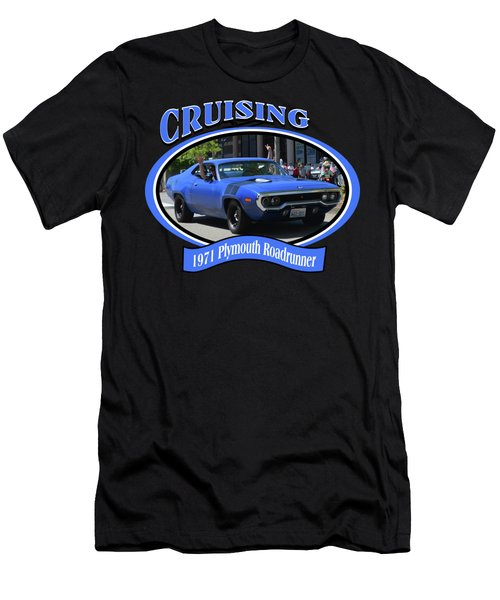 1971 Plymouth Roadrunner Hedman Men's T-Shirt (Slim Fit) by Mobile Event Photo Car Show Photography