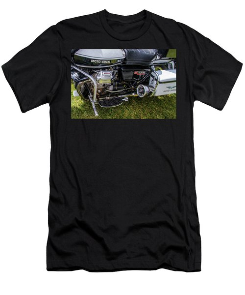 Men's T-Shirt (Slim Fit) featuring the photograph 1976 Motto Guzzi V1000 Convert by Roger Mullenhour