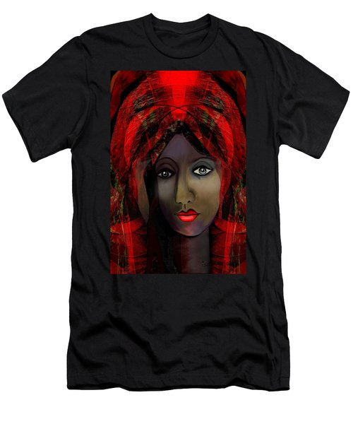 Men's T-Shirt (Slim Fit) featuring the digital art 1980 -  Leading Into Temptation 2017 by Irmgard Schoendorf Welch