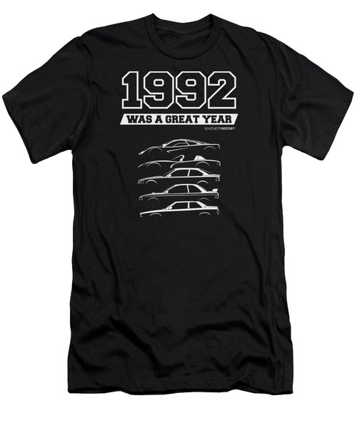 1992 Was A Great Year Silhouettehistory Men's T-Shirt (Athletic Fit)