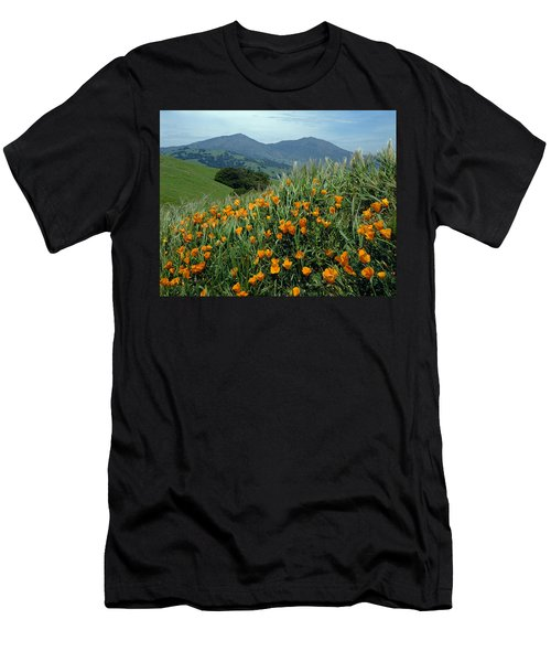 1a6493 Mt. Diablo And Poppies Men's T-Shirt (Athletic Fit)