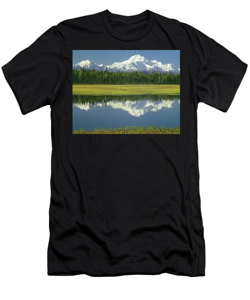 1m1325 Mt. Hunter And Mt. Denali Men's T-Shirt (Athletic Fit)