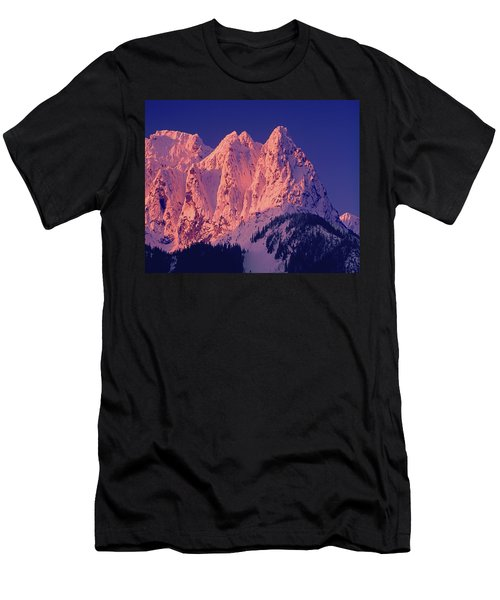 1m4503-a Three Peaks Of Mt. Index At Sunrise Men's T-Shirt (Athletic Fit)