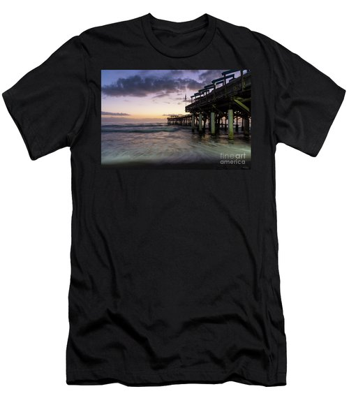 1st Dawn Cocoa Pier Men's T-Shirt (Slim Fit) by Jennifer White