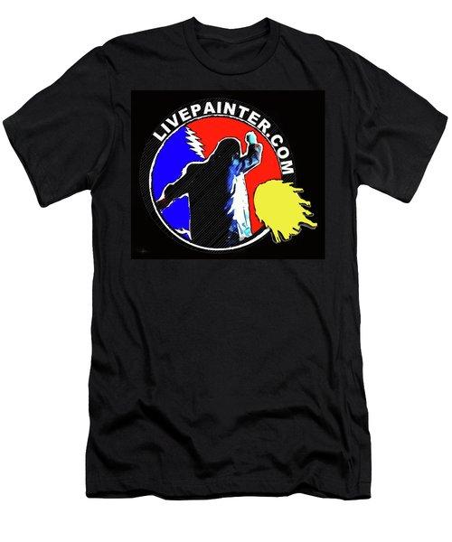 1st Live Painter Logo Men's T-Shirt (Athletic Fit)