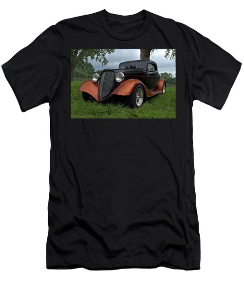 1934 Ford Hot Rod Coupe Men's T-Shirt (Slim Fit) by Tim McCullough
