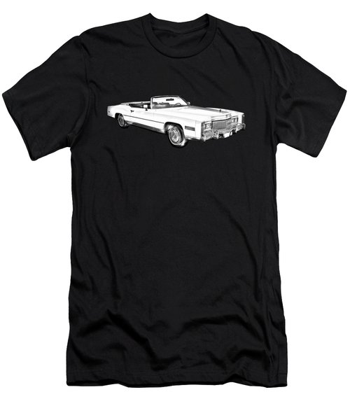 1975 Cadillac Eldorado Convertible Illustration Men's T-Shirt (Athletic Fit)
