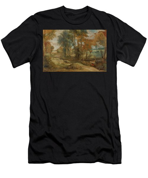 A Wagon Fording A Stream Men's T-Shirt (Athletic Fit)