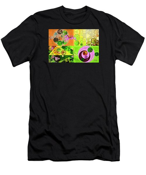 Abstract Painting - Turtle Green Men's T-Shirt (Athletic Fit)
