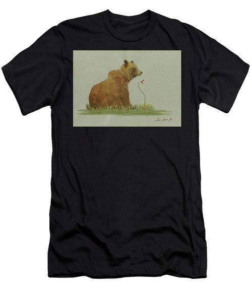 Alaskan Grizzly Bear Men's T-Shirt (Athletic Fit)