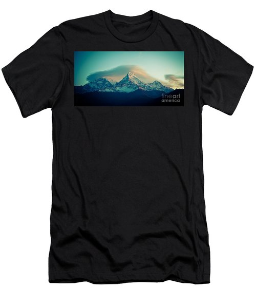 Annapurna South At Sunrise In Himalayas Artmif Photo Raimond Klavins Men's T-Shirt (Athletic Fit)