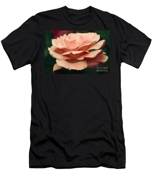 Men's T-Shirt (Athletic Fit) featuring the photograph Antique Rose by Donna Bentley