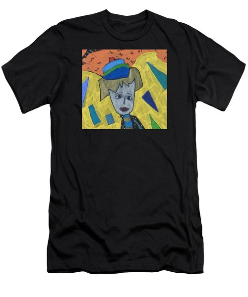 Men's T-Shirt (Athletic Fit) featuring the painting Archangel Haniel by Clarity Artists