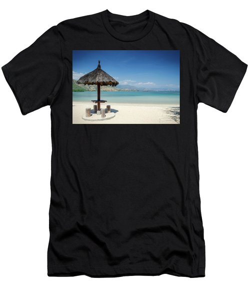 Areia Branca Tropical Beach View Near Dili In East Timor Men's T-Shirt (Athletic Fit)
