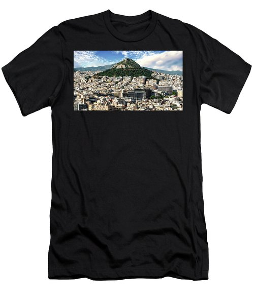 Men's T-Shirt (Athletic Fit) featuring the photograph Athens Panorama by Anthony Dezenzio