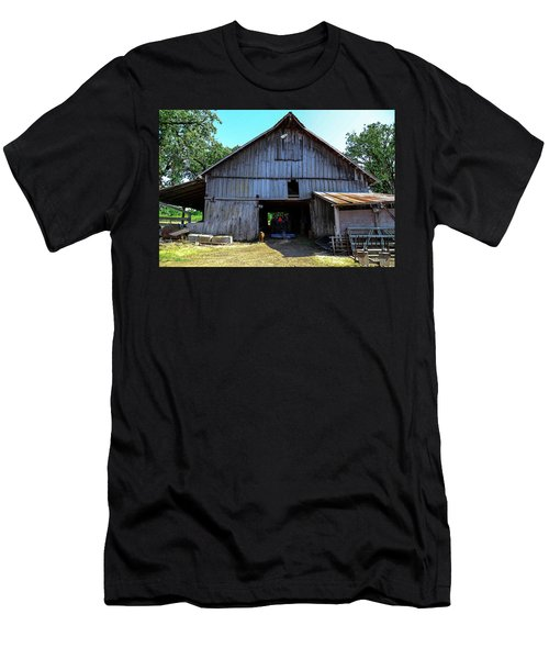 Barns In Pacific Northwest Men's T-Shirt (Athletic Fit)