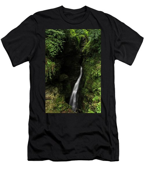 Beautiful Flowing Waterfall With Magical Fairytale Feel In Lush  Men's T-Shirt (Athletic Fit)