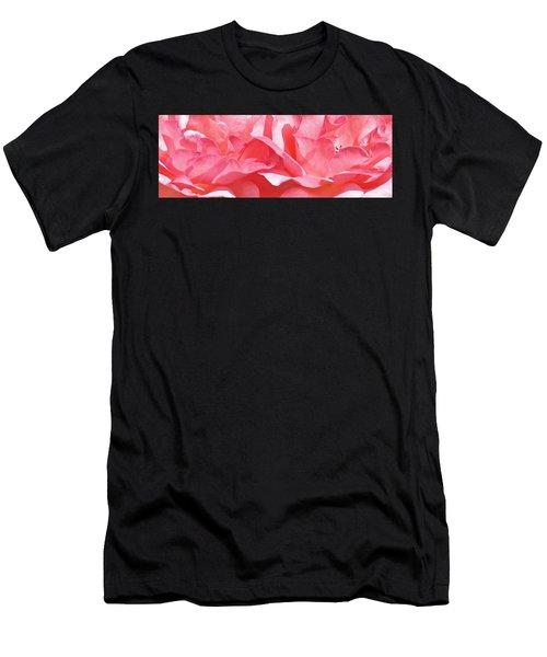 Beautiful Pink Rose Men's T-Shirt (Athletic Fit)