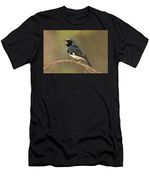 Black-throated Blue Warbler Men's T-Shirt (Athletic Fit)