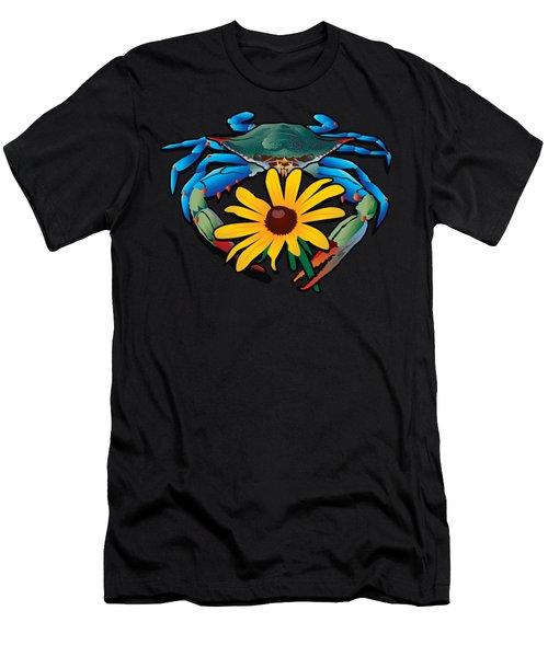 Blue Crab Maryland Black-eyed Susan Men's T-Shirt (Athletic Fit)