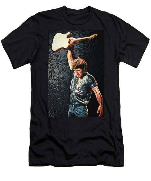 Bruce Springsteen Men's T-Shirt (Slim Fit) by Taylan Apukovska