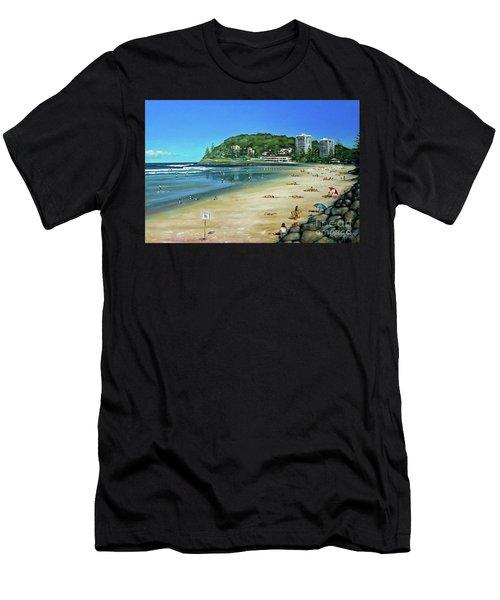Burleigh Beach 100910 Men's T-Shirt (Athletic Fit)