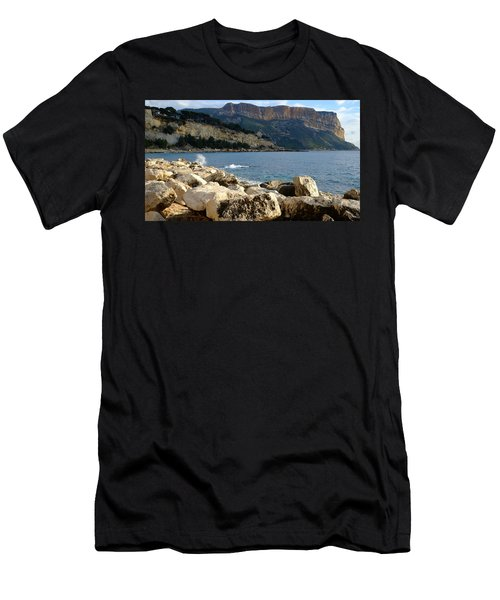 Men's T-Shirt (Athletic Fit) featuring the photograph Cap Canaille Cassis by August Timmermans