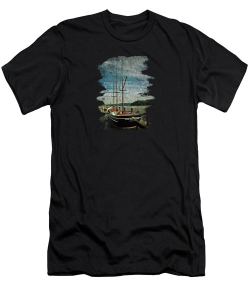 Men's T-Shirt (Slim Fit) featuring the photograph Cape Foulweather Tall Ship by Thom Zehrfeld