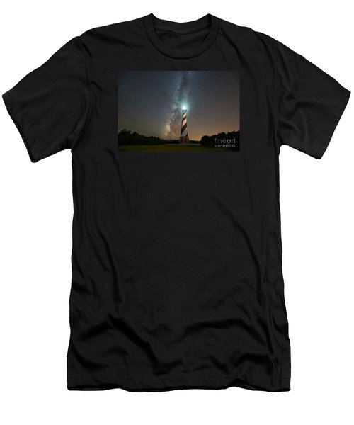Cape Hatteras Lighthouse Milky Way Men's T-Shirt (Athletic Fit)