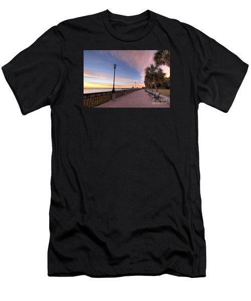 Charleston Waterfront Park Sunrise  Men's T-Shirt (Athletic Fit)