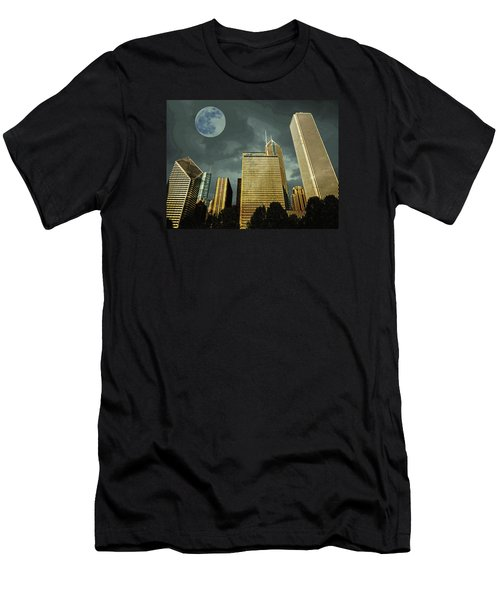 Men's T-Shirt (Athletic Fit) featuring the photograph Chicago by Artistic Panda