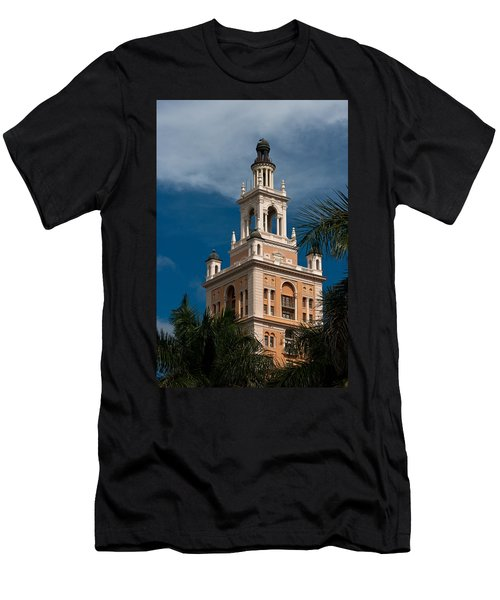 Men's T-Shirt (Slim Fit) featuring the photograph Coral Gables Biltmore Hotel Tower by Ed Gleichman