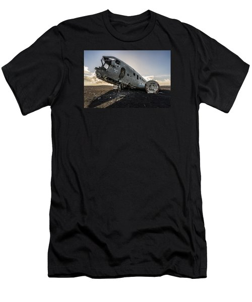 Men's T-Shirt (Athletic Fit) featuring the photograph Crashed Dc-3 by James Billings