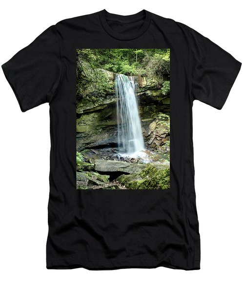 Cucumber Falls Pennsylvania Men's T-Shirt (Slim Fit) by Chris Smith