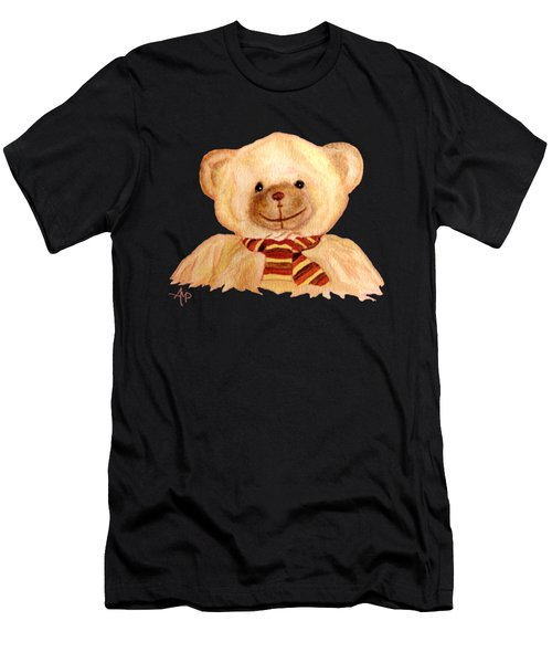 Men's T-Shirt (Athletic Fit) featuring the painting Cuddly Bear by Angeles M Pomata