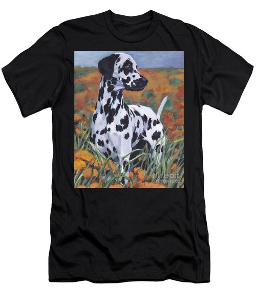 Men's T-Shirt (Slim Fit) featuring the painting Dalmatian by Lee Ann Shepard
