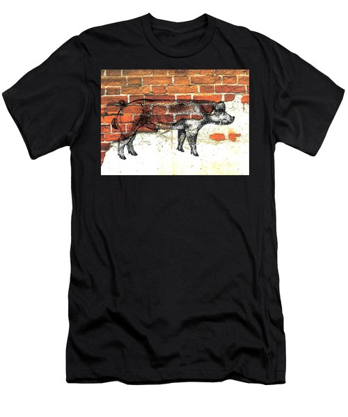 Men's T-Shirt (Slim Fit) featuring the photograph Danish Duroc Boar by Larry Campbell