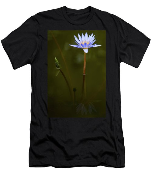 Deep Lily Reflection Men's T-Shirt (Athletic Fit)