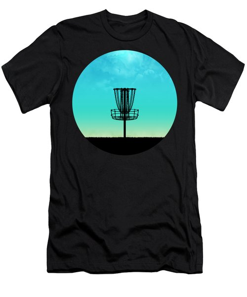 Disc Golf Basket Silhouette Men's T-Shirt (Athletic Fit)