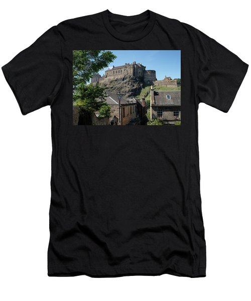 Men's T-Shirt (Athletic Fit) featuring the photograph Edinburgh Castle In Scotland by Jeremy Lavender Photography
