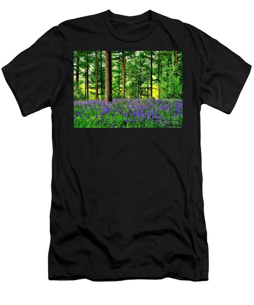English Bluebell Wood Men's T-Shirt (Athletic Fit)