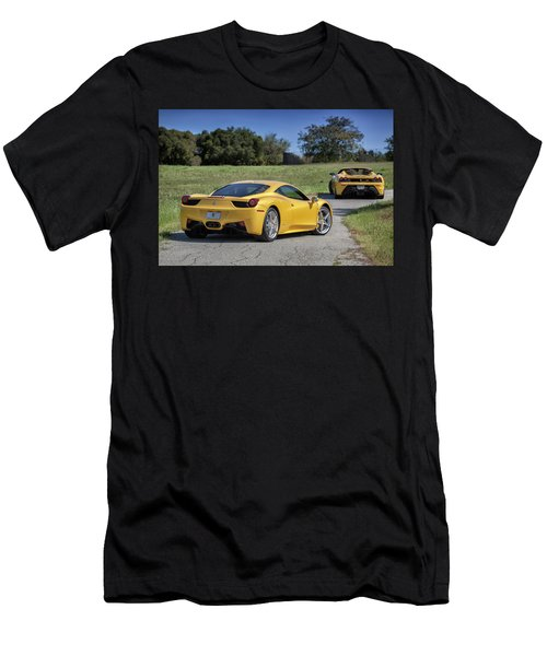 #ferrari #458italia #print Men's T-Shirt (Athletic Fit)