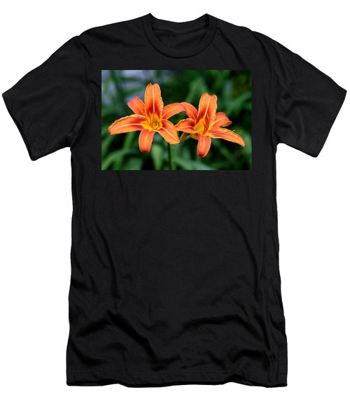 2 Flowers In Side By Side Men's T-Shirt (Athletic Fit)