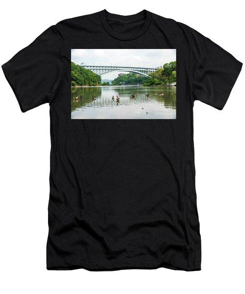 Henry Hudson Bridge Men's T-Shirt (Athletic Fit)