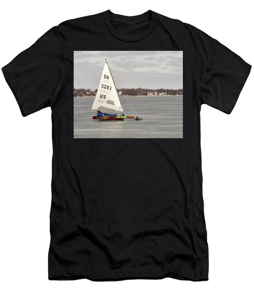 Ice Sailing - Madison, Wisconsin Men's T-Shirt (Athletic Fit)