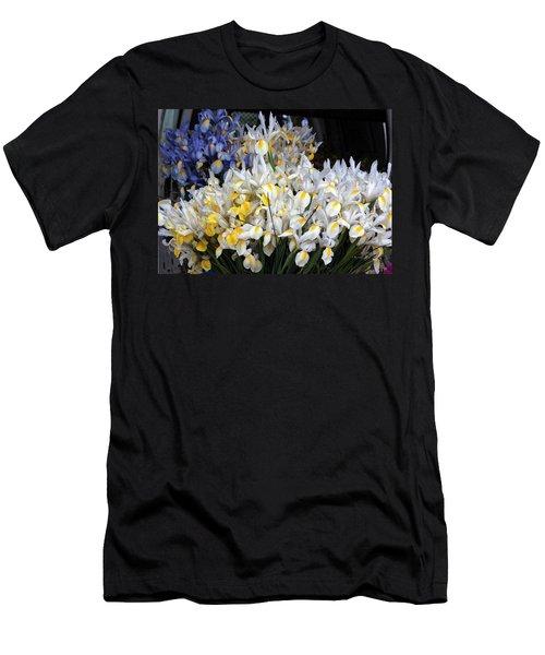 Incredible Irises In Watercolor Men's T-Shirt (Athletic Fit)