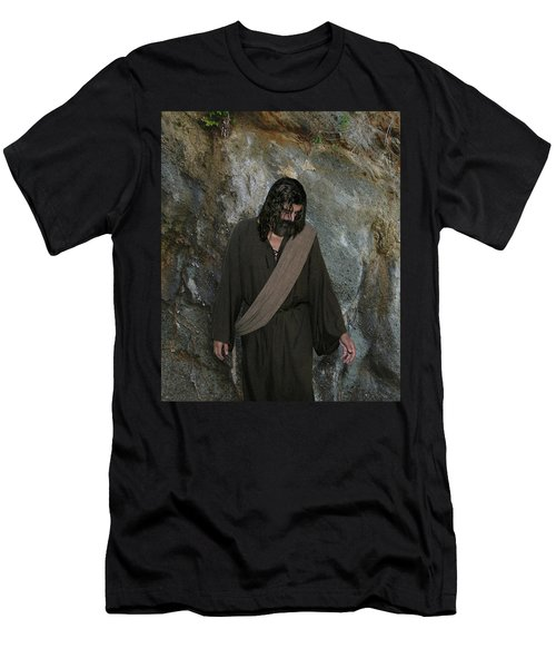 Jesus Christ- Rise And Walk With Me  Men's T-Shirt (Athletic Fit)