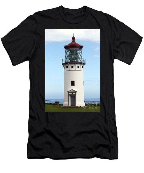 Kilauea Lighthouse On Kauai Men's T-Shirt (Athletic Fit)